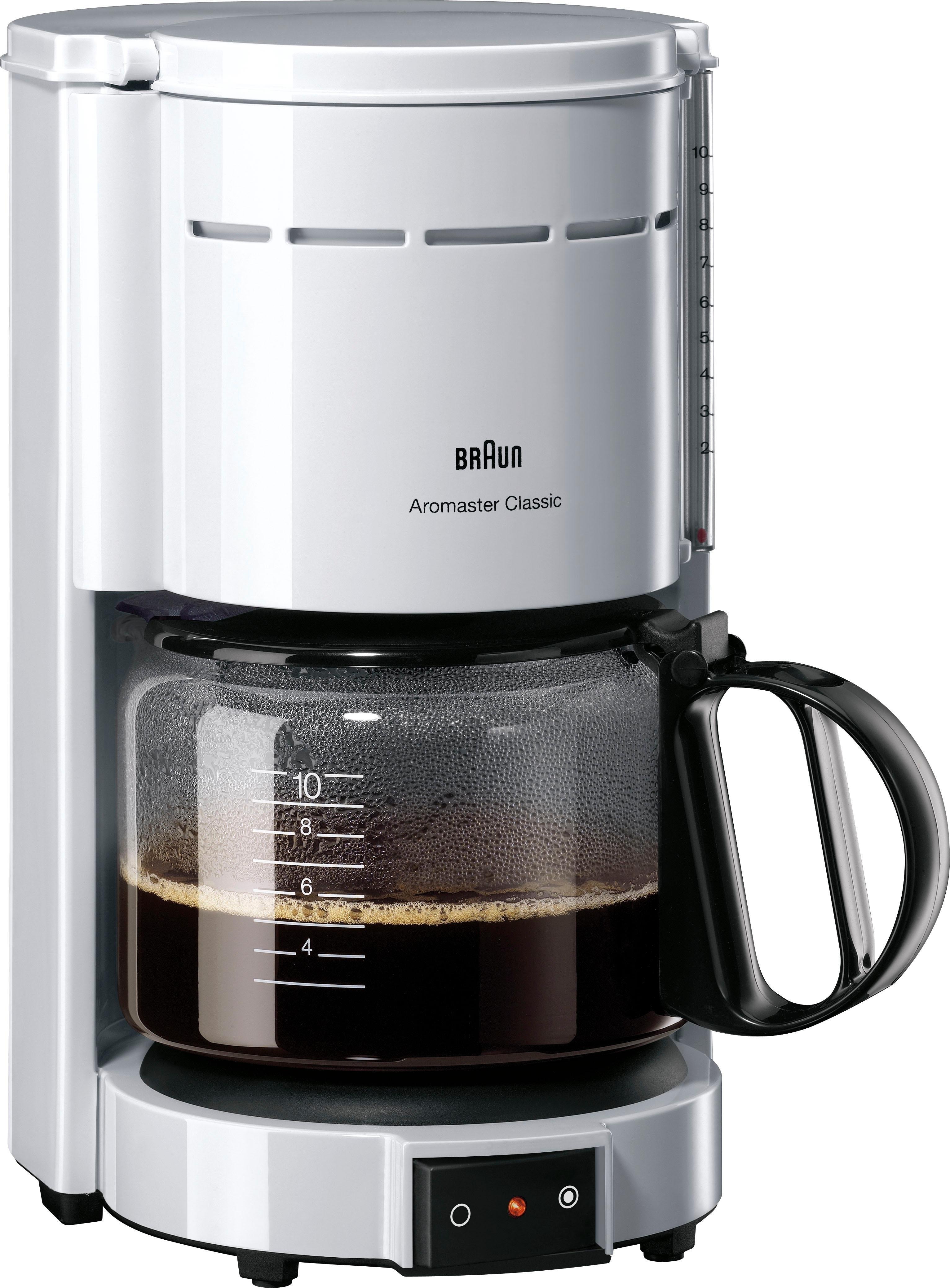 Braun Koffiezetapparaat Aromaster Classic KF 47/1, met glazen kan, wit online kopen op otto.nl