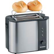 severin toaster »at 2589«, voor 2 plakken brood, 800 watt zilver
