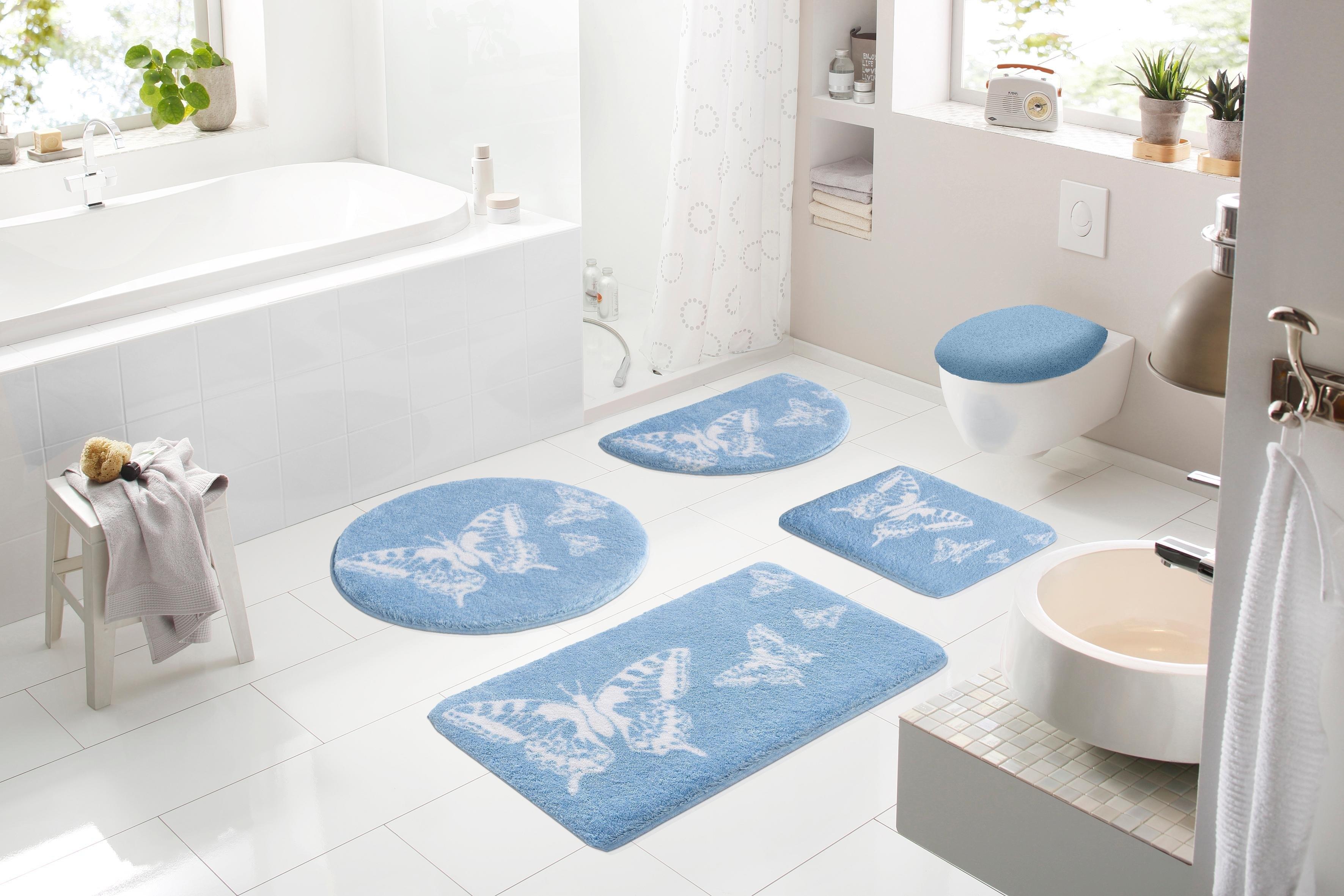 Hangend Toilet Afmetingen : Badmat 3 delige set voor hangend toilet »papillons« hoogte 20 mm