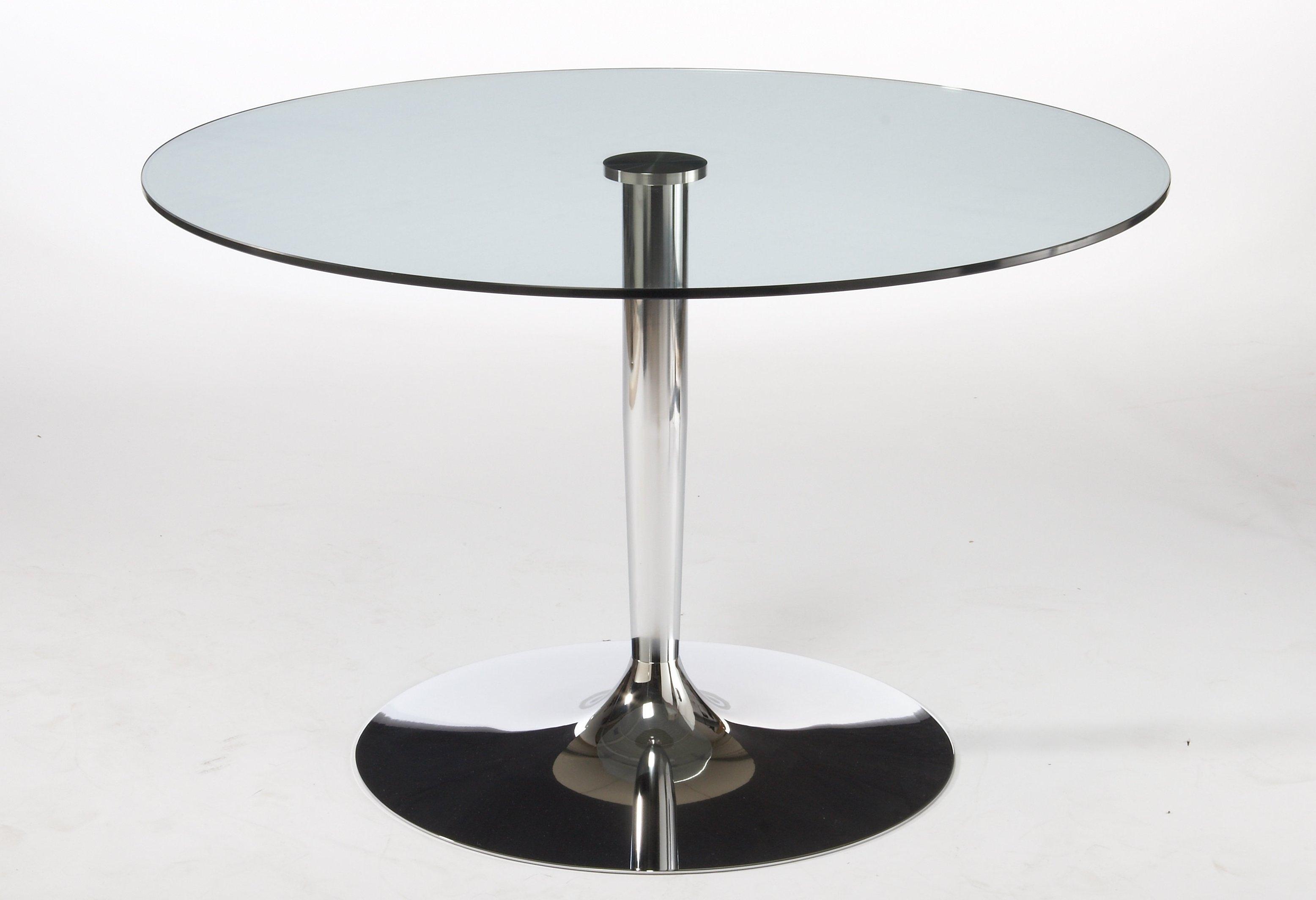 Glazen Tafelblad Rond.Glazen Tafel Calligaris