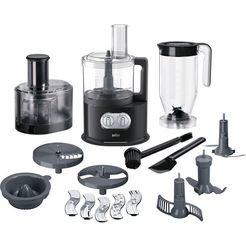 braun keukenmachine met kookfunctie fp 5160, 1000 w, kom 2 liter zwart
