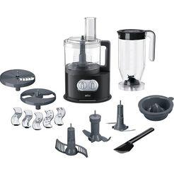 braun keukenmachine met kookfunctie fp 5150, 1000 w, kom 2 liter zwart