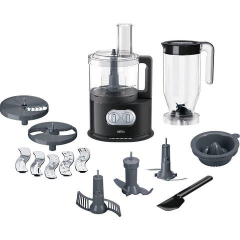 Braun Domestic Home Keukenmachine, 1.000 Watt Vermogen, 11 Standen, Puls--momentschakelaar, 1 Kneedp