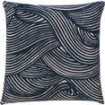 barbara home collection kussenovertrek ki-h wave (1 stuk) blauw