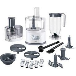 braun keukenmachine met kookfunctie fp 5160, 1000 w, kom 2 liter wit