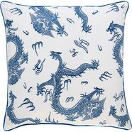 barbara home collection kussenovertrek ki-h dragon (1 stuk) blauw