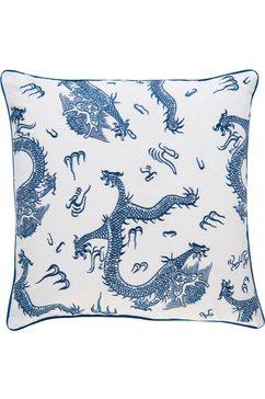 kussenovertrek, »ki-h dragon«, barbara home collection blauw