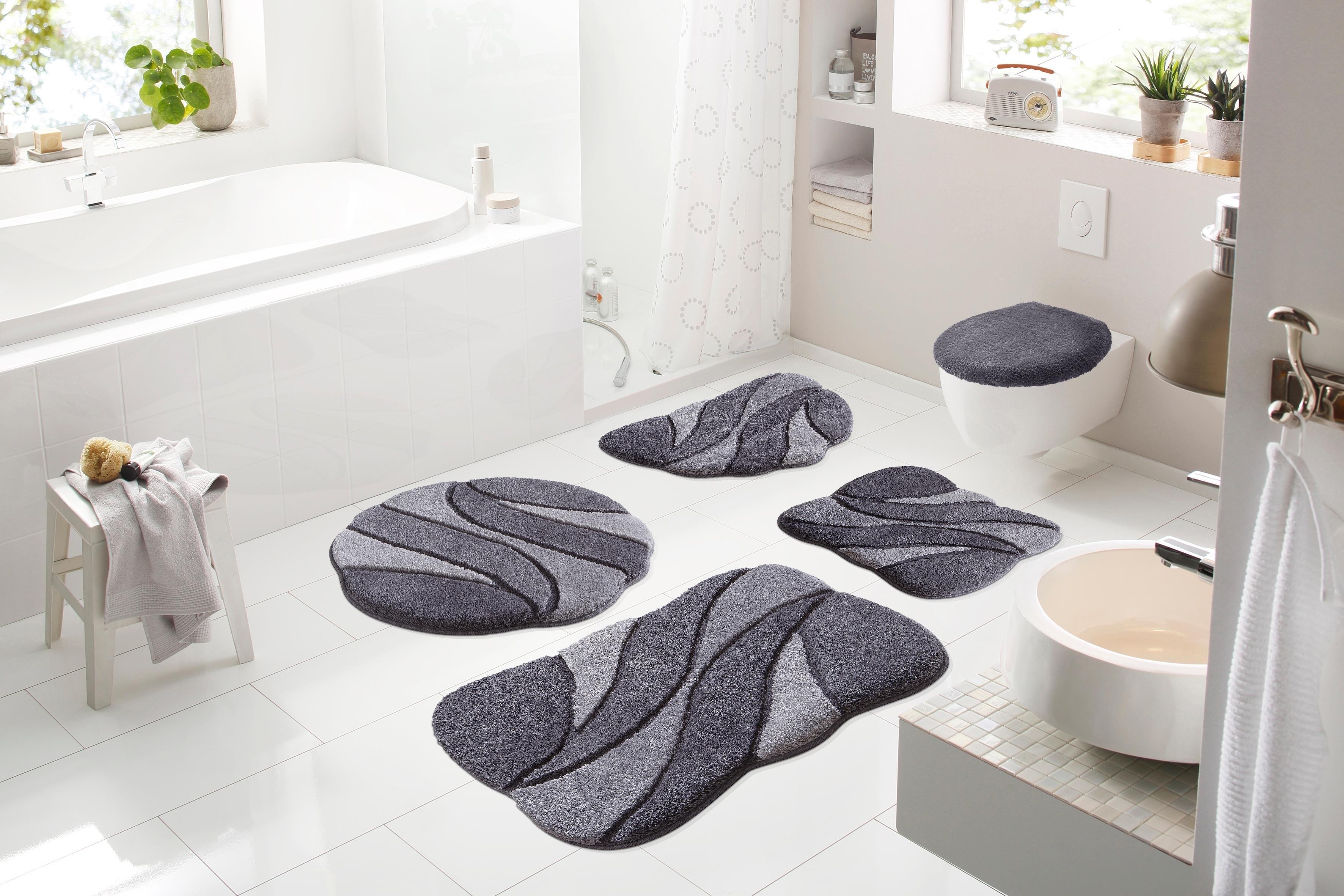 Hangend Toilet Afmetingen : Badmat 3 delige set voor hangend toilet »colette« hoogte 24 mm