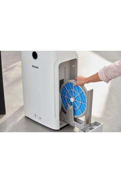 philips combi-apparaat luchtbevochtiger en -reiniger ac3829-10 wit