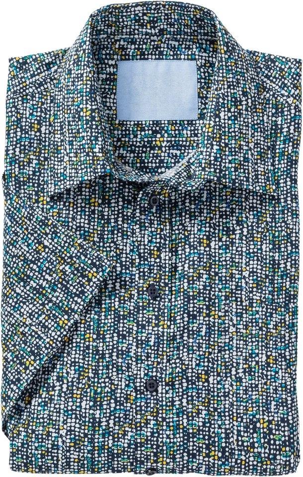 Classic Marco Donati overhemd met korte mouwen en stippenmotief bestellen: 14 dagen bedenktijd