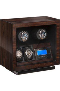 boxy watchwinder »boxy bldc voor 2 horloges, 309417« bruin