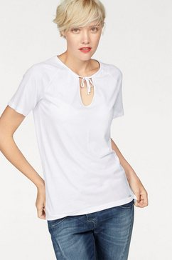 cotton candy shirt met v-hals »gail« wit