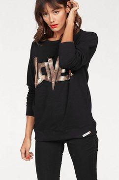 cotton candy sweatshirt »charlize« zwart