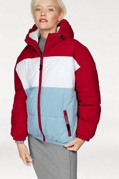 schott nyc gewatteerd jack »alaska« rood