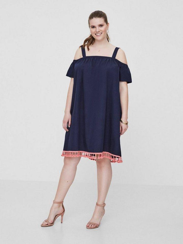 NU 21% KORTING: Junarose Off-shoulder jurk blauw