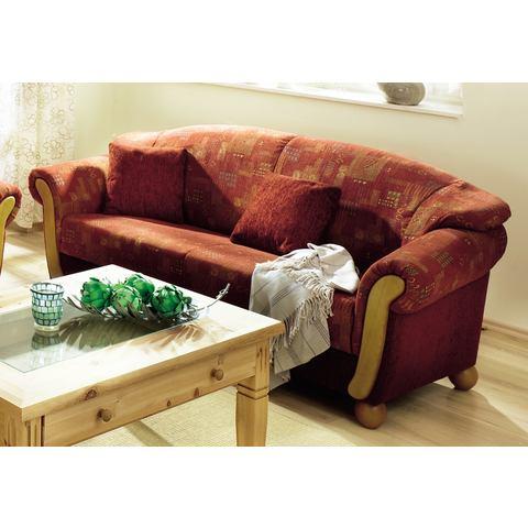 woonkamer driepersoons bankstel rood met bekleding van chenille