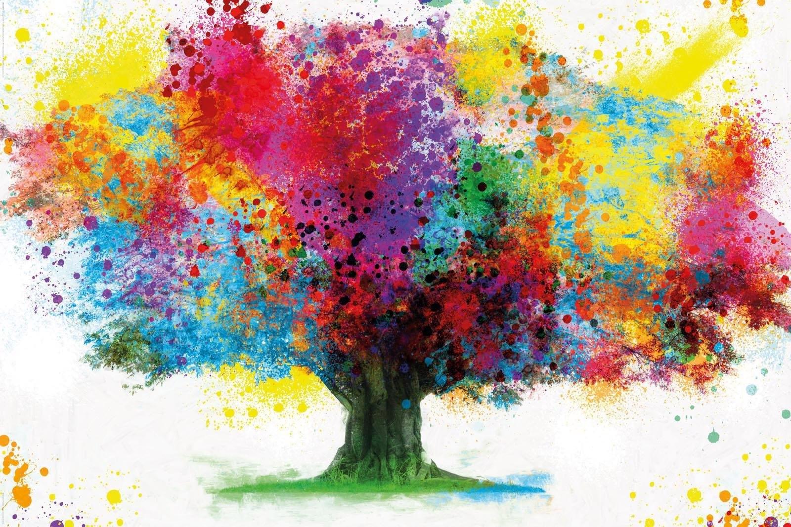 Reinders! INOSIGN, decoratief paneel »Coloured Tree«, 118x70 cm bestellen: 30 dagen bedenktijd