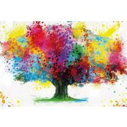 reinders! decoratief paneel coloured tree multicolor