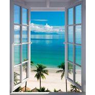 reinders! decoratief paneel kamer met zeezicht blauw