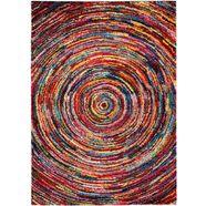 hoogpolig vloerkleed »sixteen round«, oci die teppichmarke, rechthoekig 25 mm hoog machinaal geweven multicolor