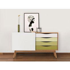 woodman dressoir »hilla«, breedte 130 cm groen