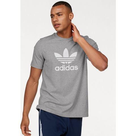 adidas-t-shirt Trefoil in grijs