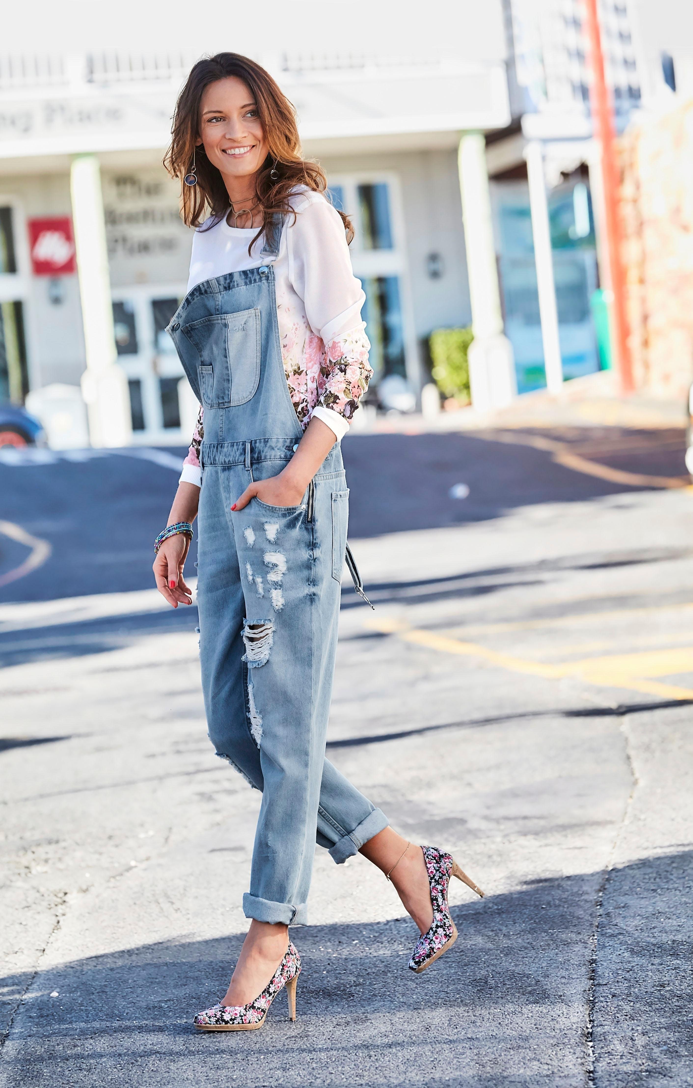 1fc352a4665709 ANISTON Imprimé-blouse met rozenprint nu online bestellen