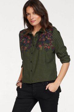 timezone lange blouse groen