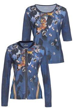 rabe shirtjasje (set, 2-delig, met top) multicolor