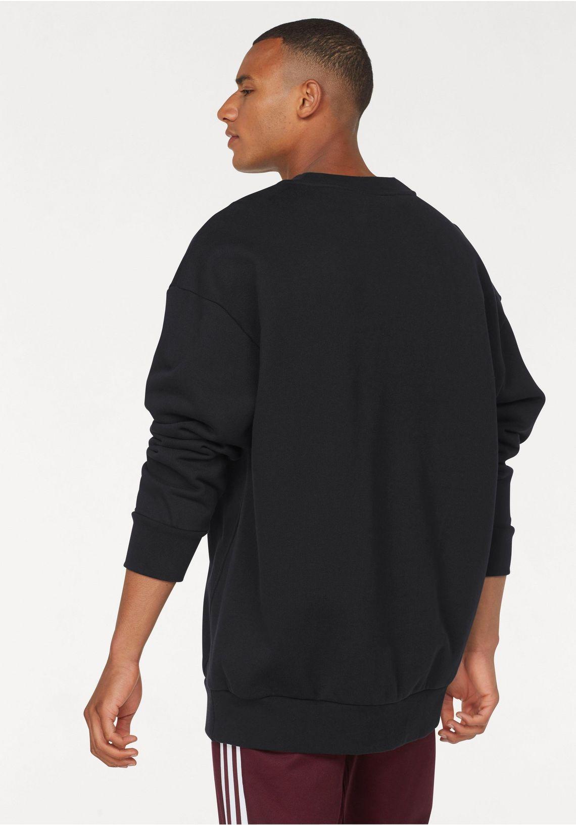 adidas Originals sweatshirt  TREF OVER CREW snel gevonden  zwart