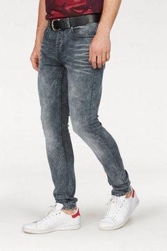 chasin' slim fit jeans »ego« blauw