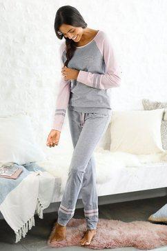 arizona pyjama met raglanmouwen grijs