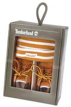 timberland babylaarsjes crib bootie with hat set set bruin