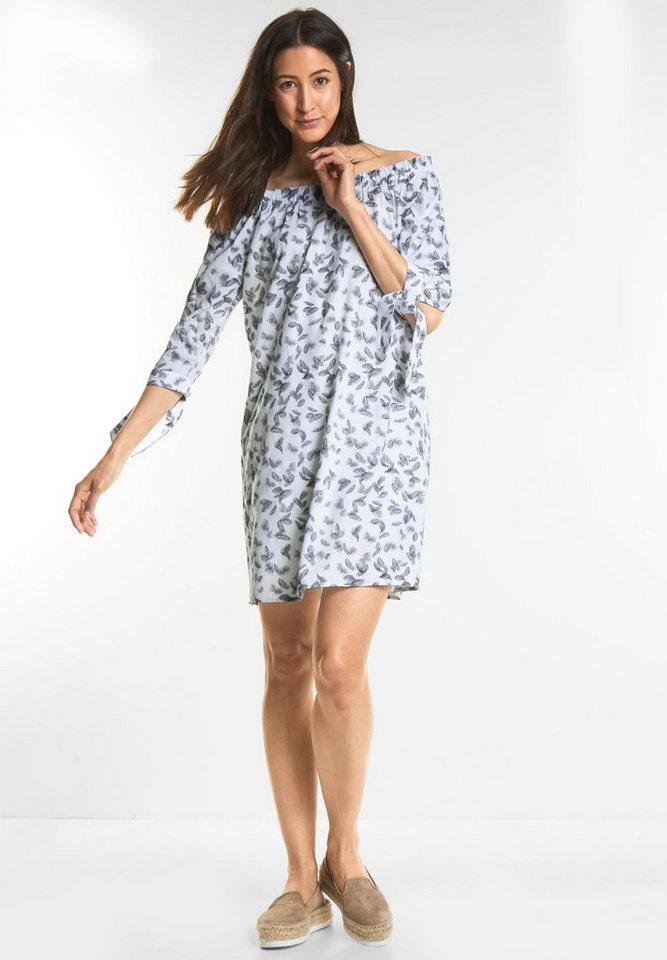 NU 21% KORTING: Street One jurk met Carmenhals wit