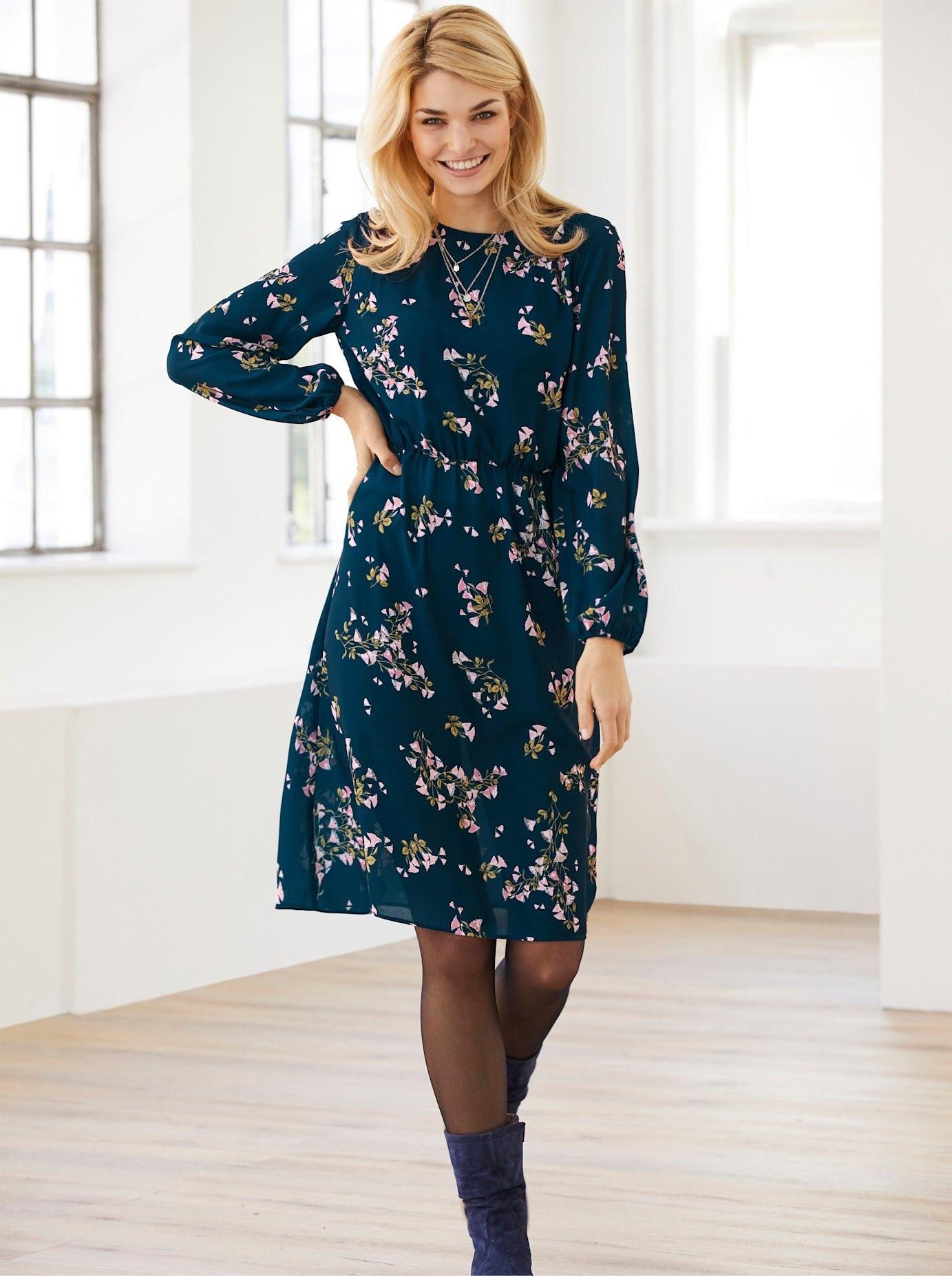 LINEA TESINI by Heine Gedessineerde jurk - gratis ruilen op otto.nl