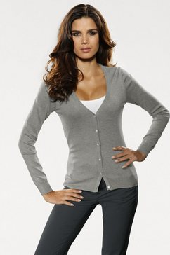 tricotvest grijs