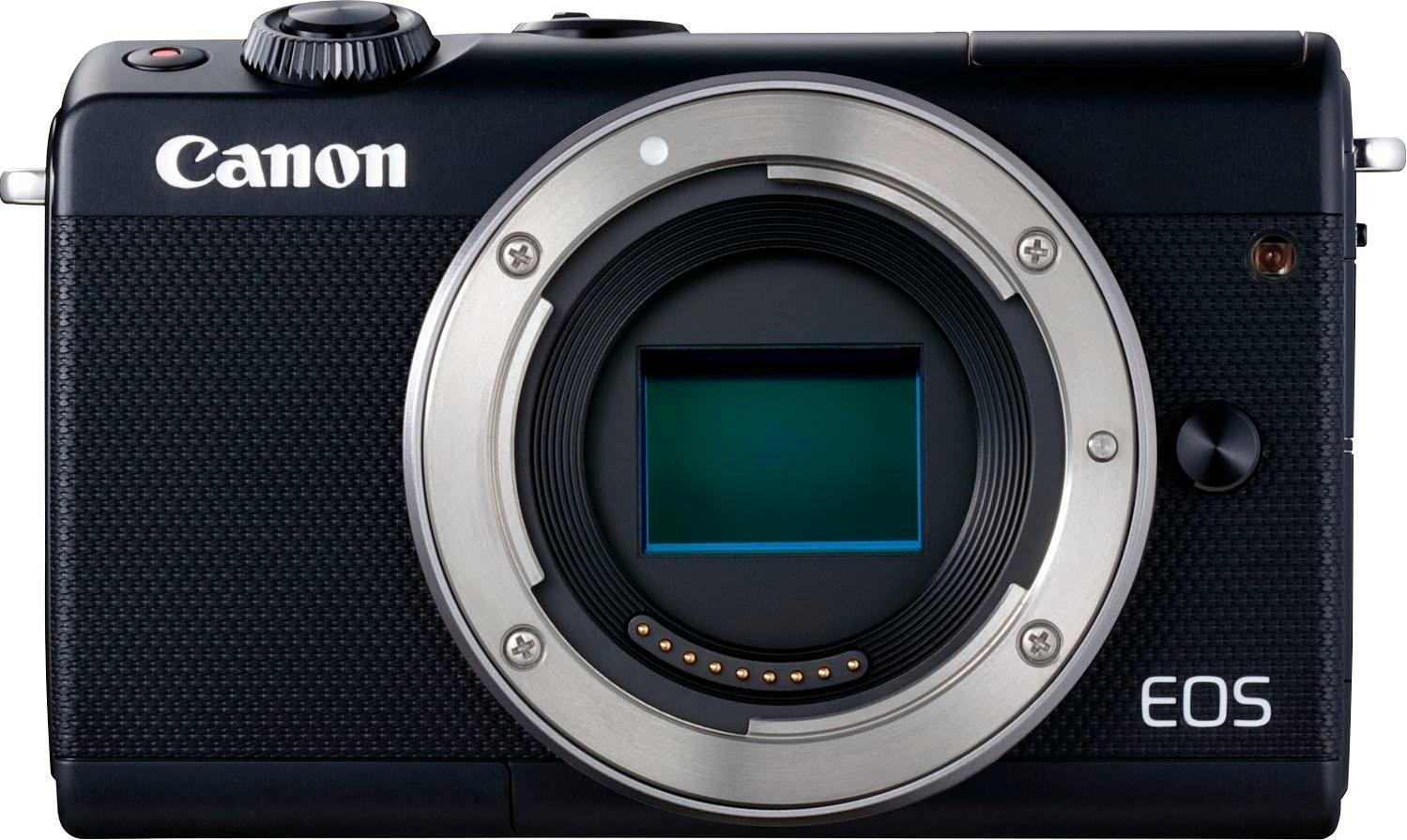 Canon »EOS-M100« systeemcamera (Canon EF-M 15-45 mm IS STM, 24,2 MP, wifi (wifi) NFC bluetooth) bestellen: 14 dagen bedenktijd