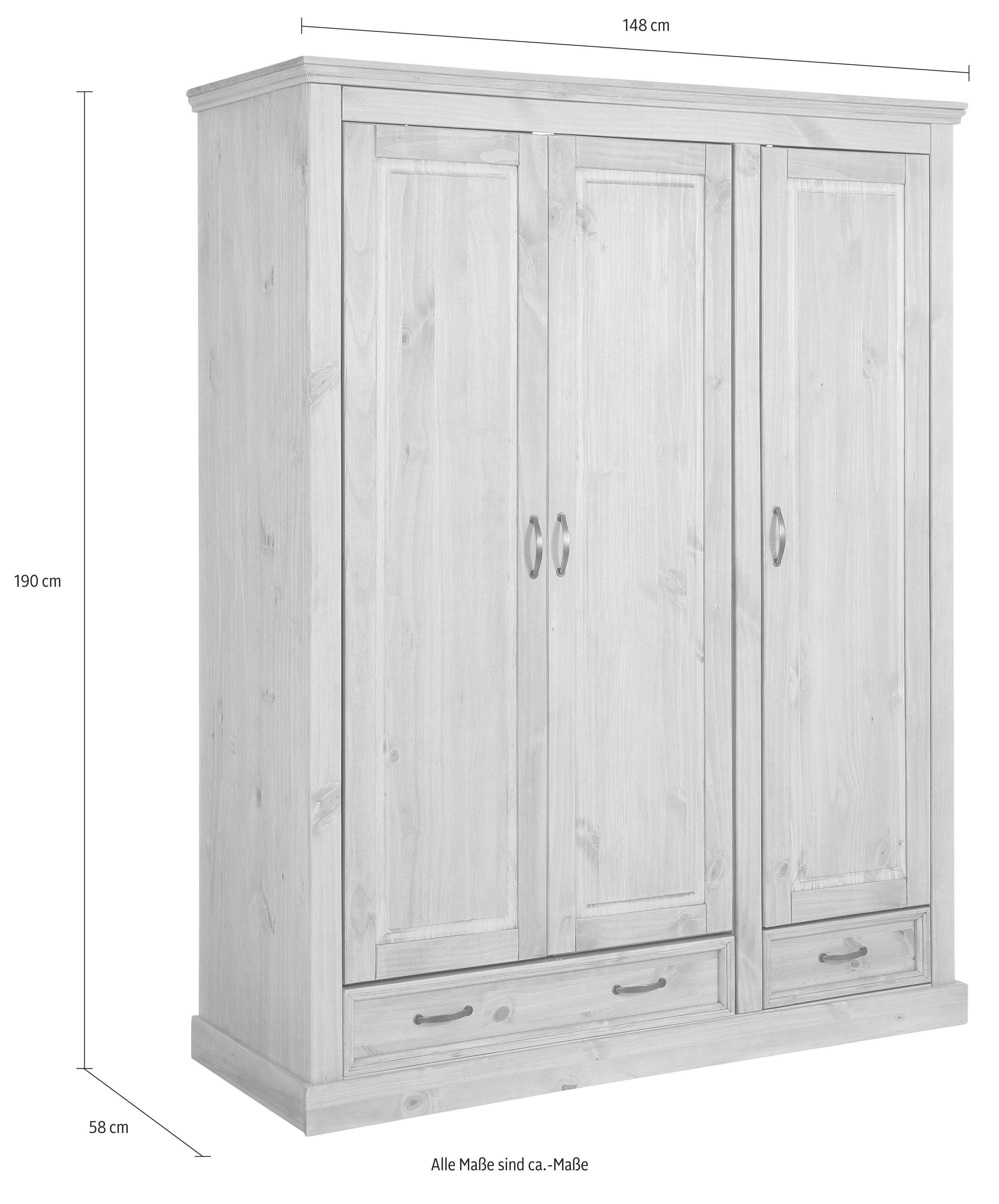Home Affaire garderobekast (3-deurs) »Selma« voor de slaapkamer, van ...