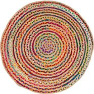 vloerkleed, »ethno«, barbara becker, rond, hoogte 4 mm, machinaal geweven multicolor