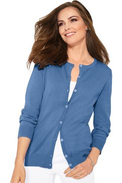classic basics vest met prachtige knopen blauw