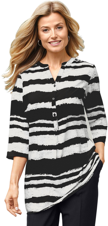 Classic Basics lange blouse met korte knoopsluiting bij OTTO online kopen