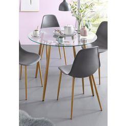 glazen tafel, rond, diameter 100 cm bruin