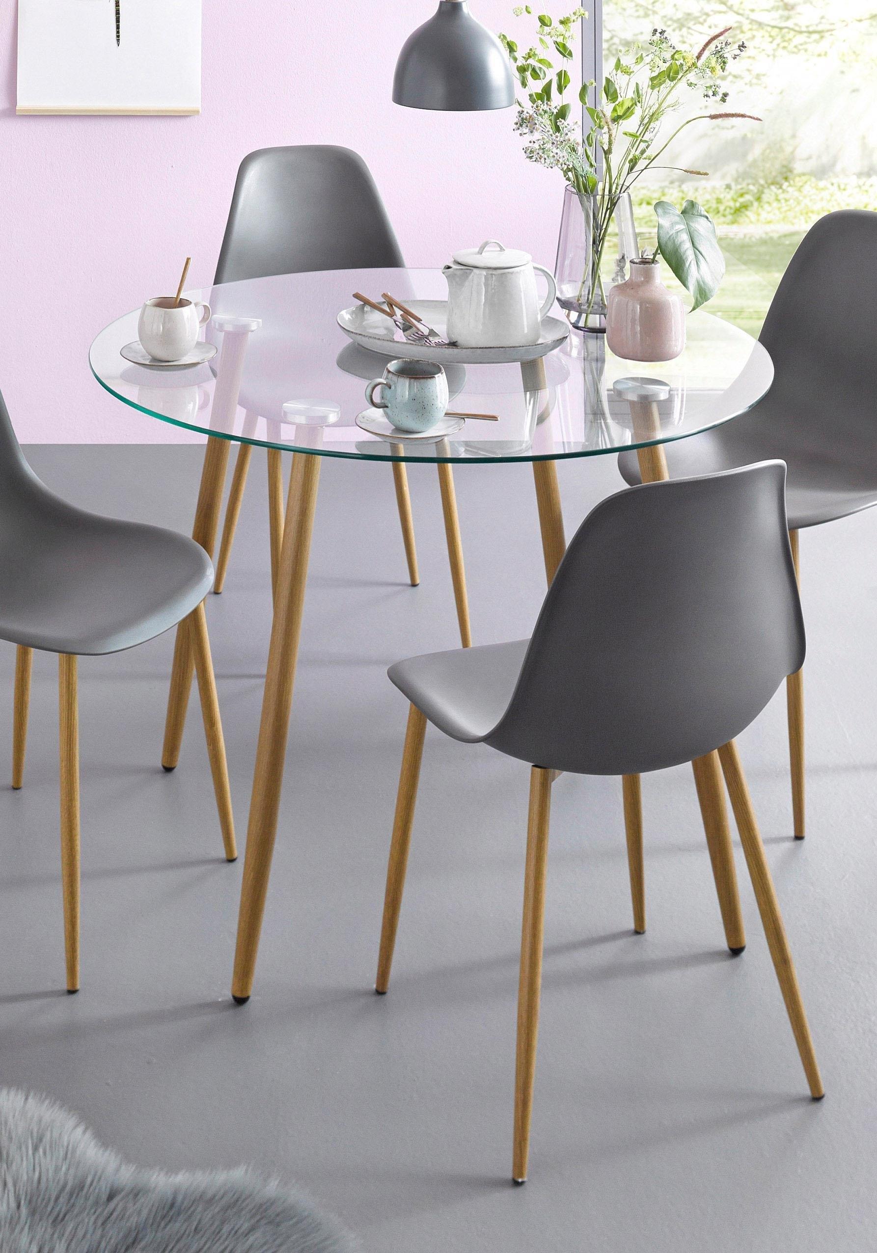 Super Glazen tafel, rond, diameter 100 cm makkelijk besteld | OTTO DE-54