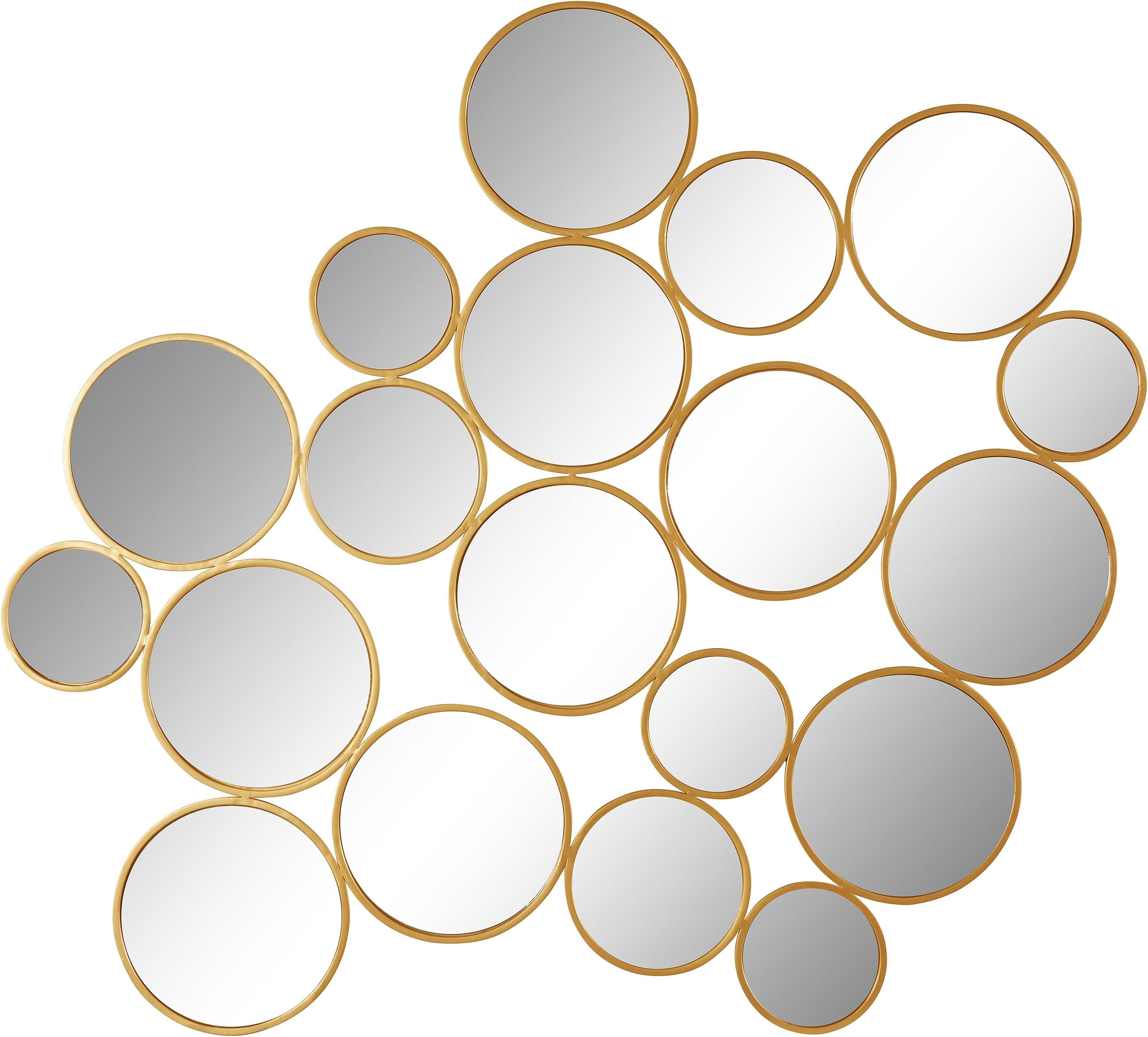 Leonique sierspiegel Malisa Wanddecoratie, bestaand uit 19 ronde spiegelementen voordelig en veilig online kopen