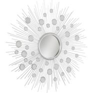 leonique sierspiegel spiegel rond, met decoratieve spiegelelementen zilver