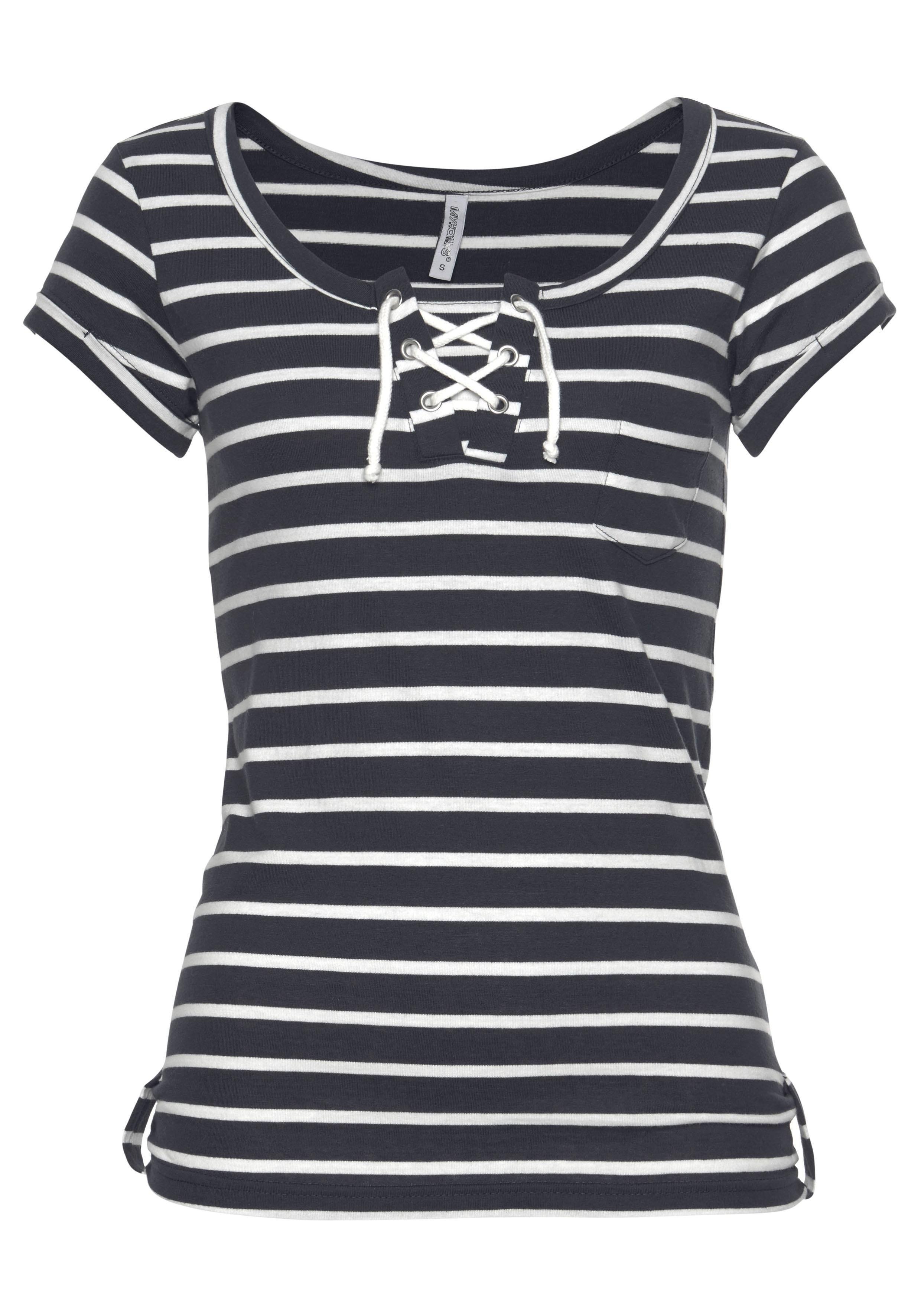 Bestellen Halsfloreen Shirt Online Ronde Hailys Met BWdeQrCxo