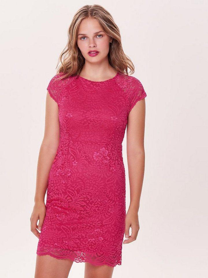 ONLY kanten Korte jurk roze