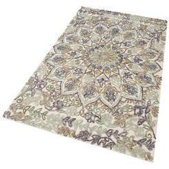 wollen vloerkleed, »golda«, home affaire collection, rechthoekig, hoogte 14 mm, handgetuft multicolor