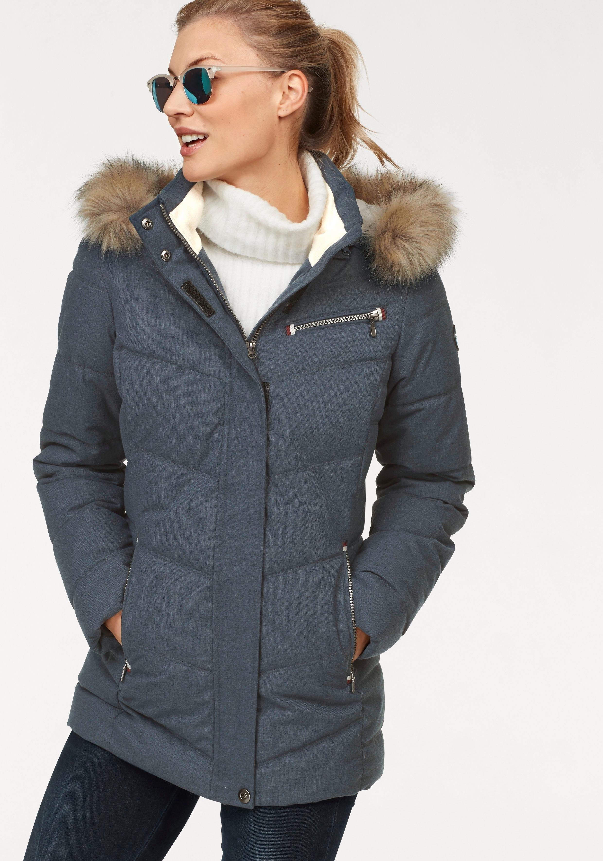 Polarino gewatteerde jas van zacht, functioneel materiaal nu online bestellen