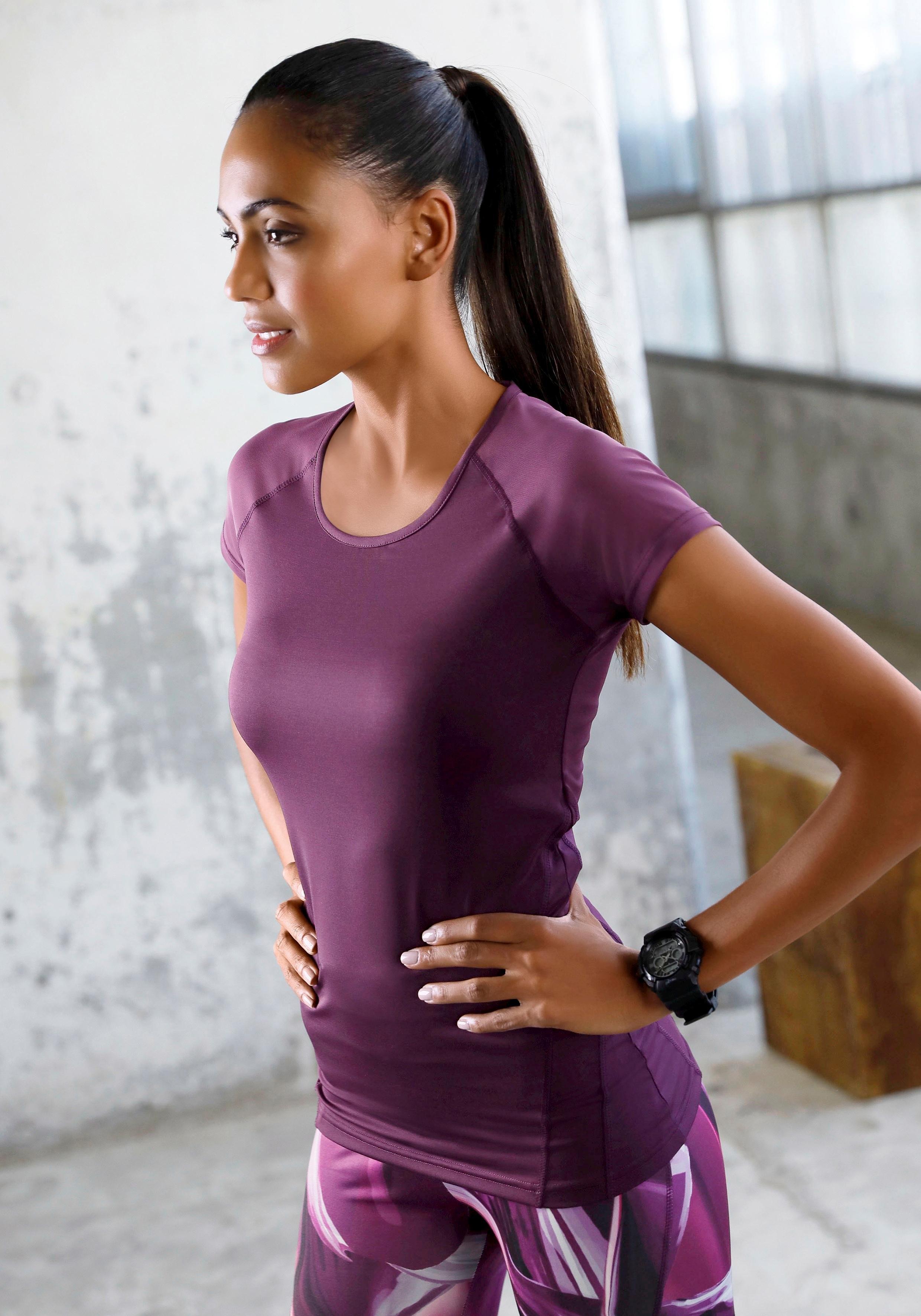 Active By Lascana performance-T-shirt met mesh-inzetten voordelig en veilig online kopen